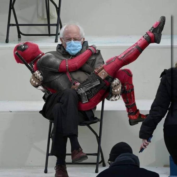 Flashdance Bernie.