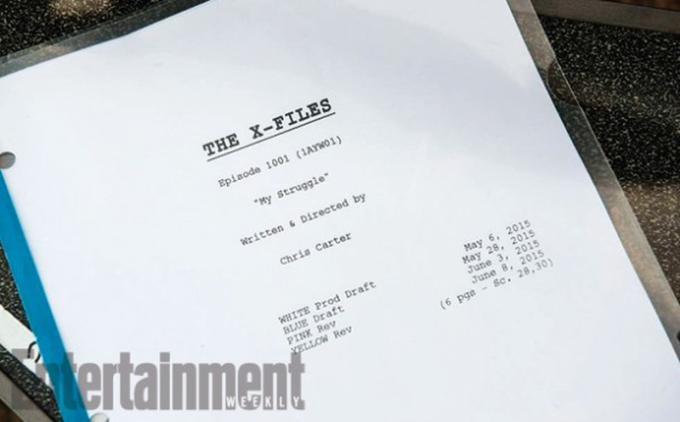 Lo script del primo episodio