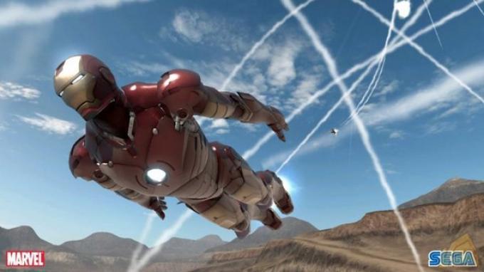 Iron man davvero in alto.