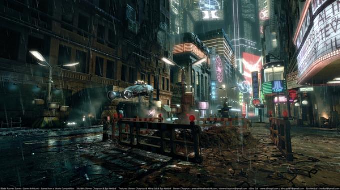 Una scena di Blade Runner ricostruita dal team in3d