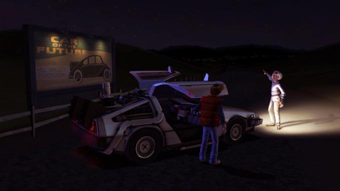 Un'immagine del gioco, che continua l'avventura di Marty e Doc.