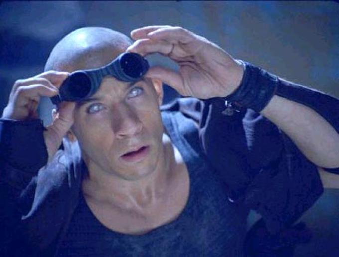 Vin Diesel nel ruolo di Riddick