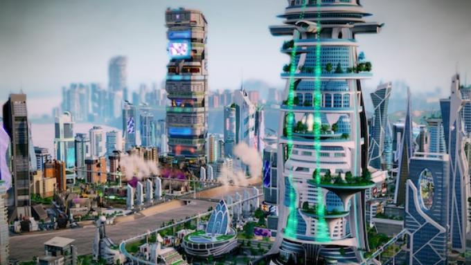 Un cartolina del nuovo Simcity Città del futuro