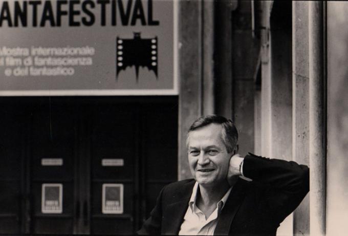 Roger Corman a Roma per il Fantafestival nel 1984.