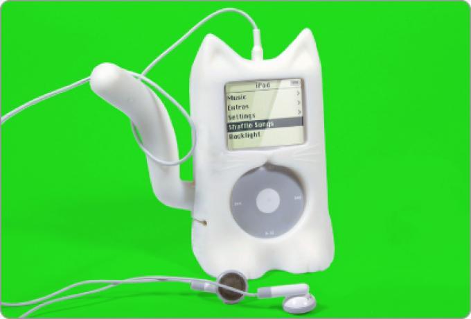 Il gattino attorno all'iPod