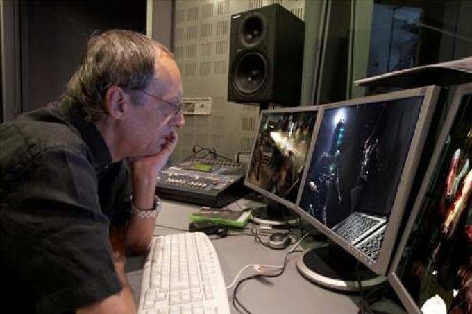 Dario Argento alle prese con il doppiaggio di Dead Space