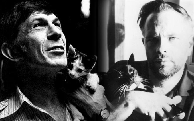 Leonard Nimoy (sinistra) e Philip K. Dick