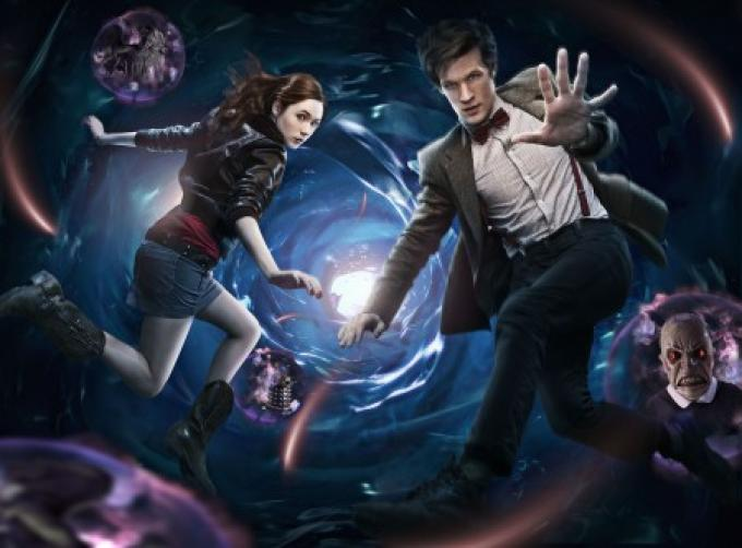 Matt Smith e Karen Gillian, a.k.a. Amy, la nuova companion del Doctor Who