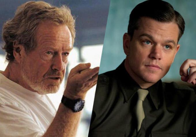 Matt Damon e Ridley Scott