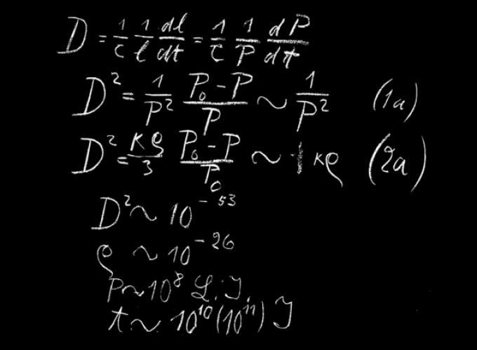 una vera formula di einstein.