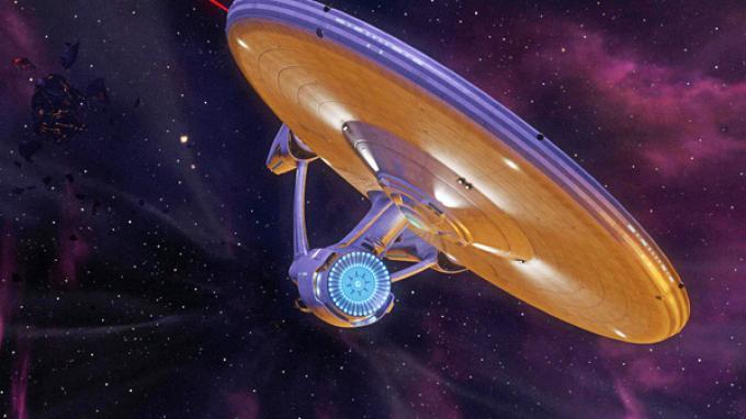 L'Enterprise versione videogame in rotta di avvicinamento