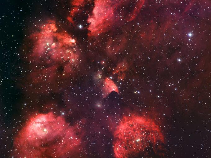 """La """"Cat's Paw Nebula"""" (NGC 6334) - La Silla"""