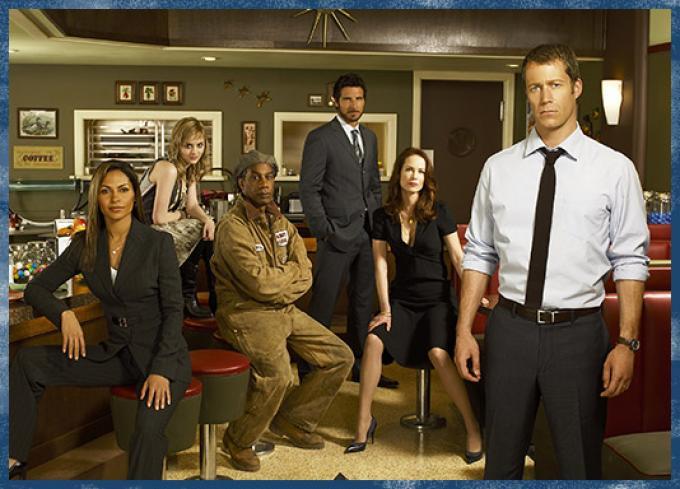 Il cast (o almeno parte) della serie tv