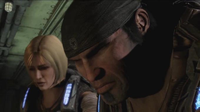 Un fotogramma dal trailer di Gears of War 3. Spazio alle donne.
