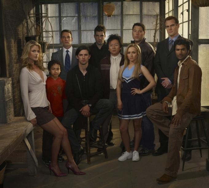 Il cast della seconda stagione di <i>Heroes</i>