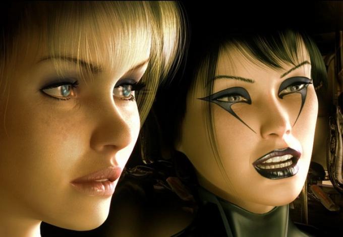 Hyleyn e Darshine, le due protagoniste della saga