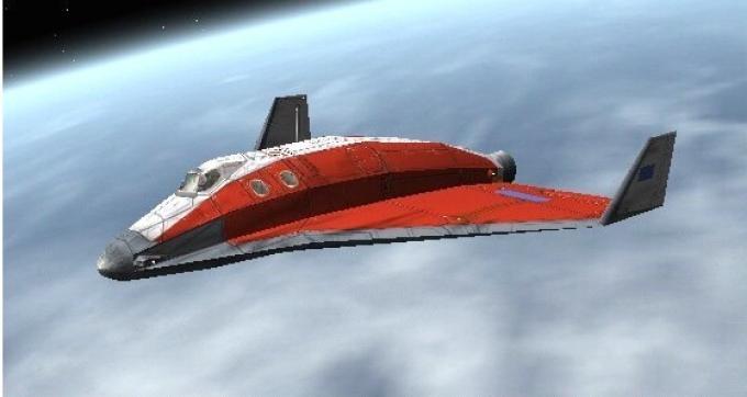 Lo spazioplano Delta-Glider in orbita (da Orbiter)