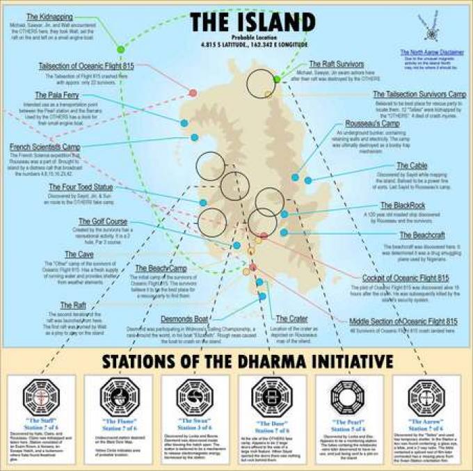 ed ecco una possibile mappa dell'isola.