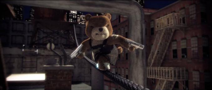 Questo orsacchiotto non ha l'aria di essere tenero...