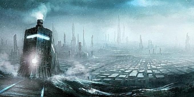 E alla vostra sinistra potete vedere New York sepolta nel ghiaccio...