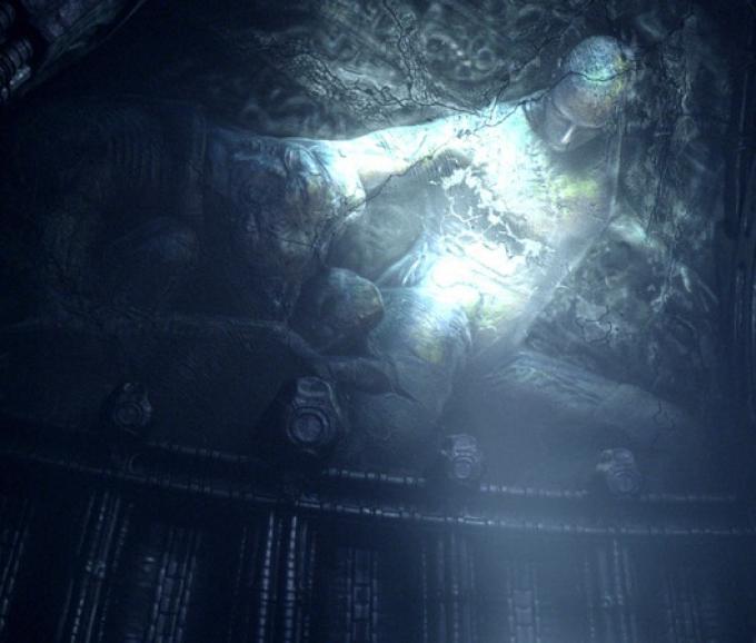 Da <i>Prometheus</i> l'immagine del bassorilievo della donna partoriente