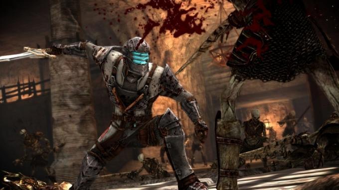 L'armatura ispirata a Isaac Clarke utilizzabile in Dragon Age II