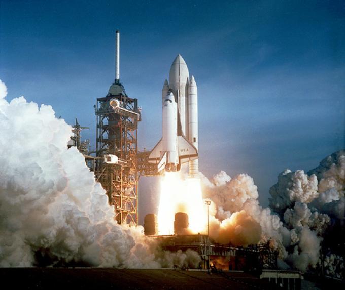 Il lancio di uno Space Shuttle