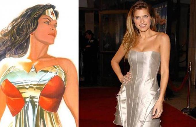 E' questo il volto di Wonder woman?