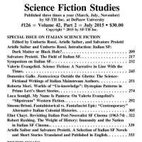 Science Fiction Studies: un numero sulla fantascienza italiana