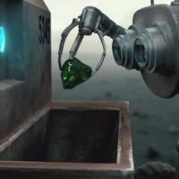 Due robot, un pianeta e uno smeraldo