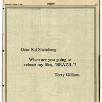 Quando uscirà il mio film, Brazil?
